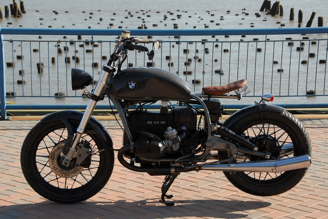 Carbon Fiber BMW Bobber Motorcycle Left Side