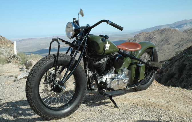 Military themed motorcycle bobber