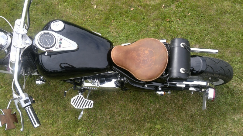Metal Mulisha Brown Leather inspired Bobber Motorcycle Seat