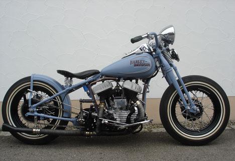 1942 Harley Flathead Bobber Motorcycle Tank