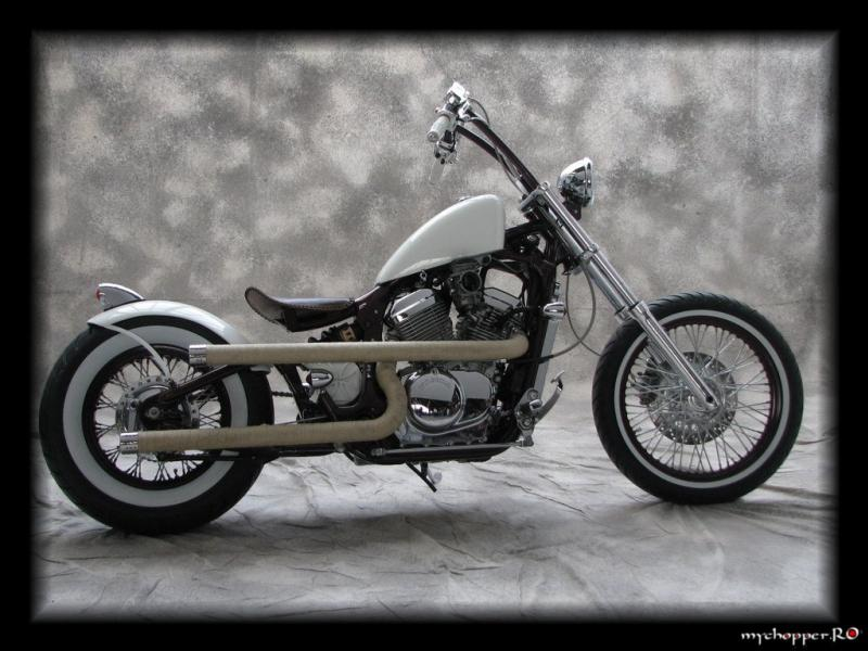 Classic Bobber Motorcycle with Apr Hanger Handlebars