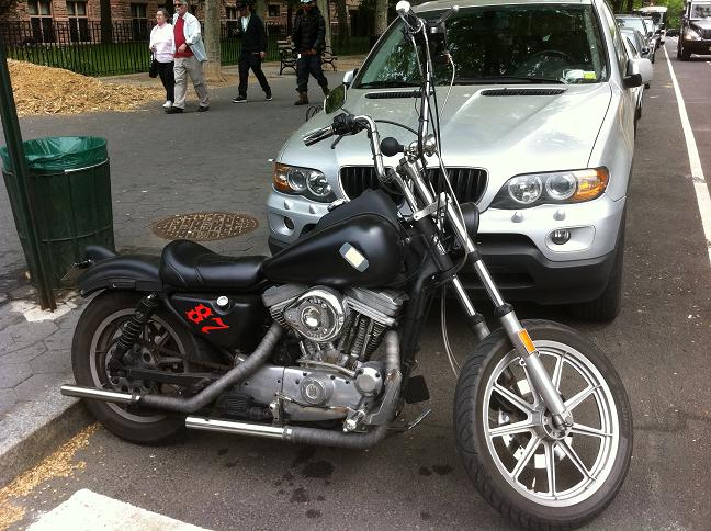 NYC Chopper Bobber with a short Ape Hanger Motorcycle Handlebar