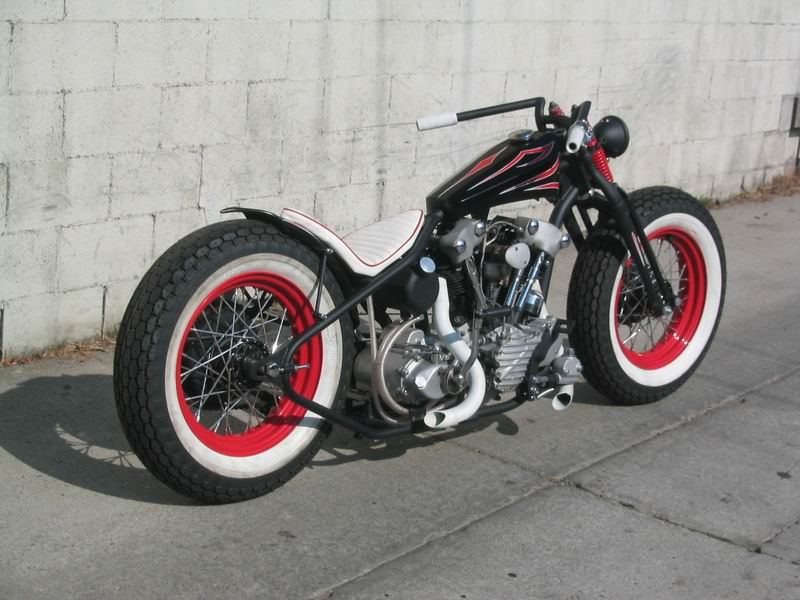 Von Dutch Old School Knuckle Bobber Motorcycle Paint Job