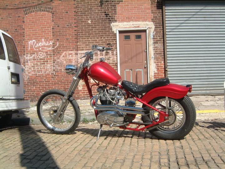 Suzuki GT750 Red Bobber Motorcycle