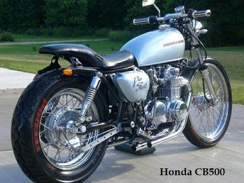 Honda CB 500 Blue Bobber Motorcycle