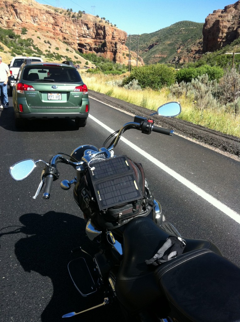 V Star 1300 in Black Stuck in Traffic on Hwy 6 in Utah