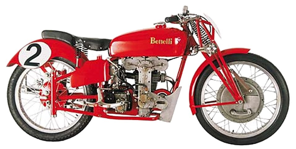 1939 Benelli Motorcycle in Red