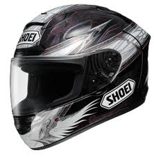 Shoei Full Face Motorcycle Helmet with Winged Angel Graphics