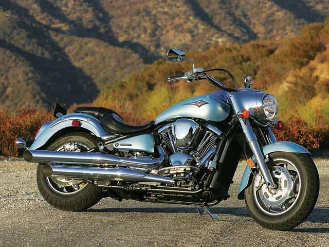 Kawasaki Vulcan 2000 Bobber Motorcycle in Silver