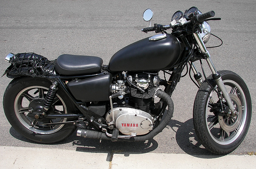 Yamaha XS650 Custom Black Bobber Motorcycle