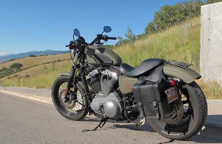 Harley Davidson Nightster Bobber Motorcycle in Military OD Green