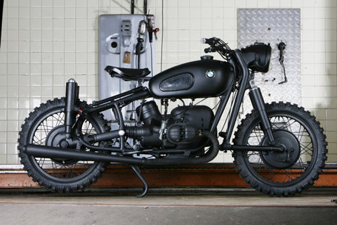 BMW R60/2 Black Bobber Motorcycle