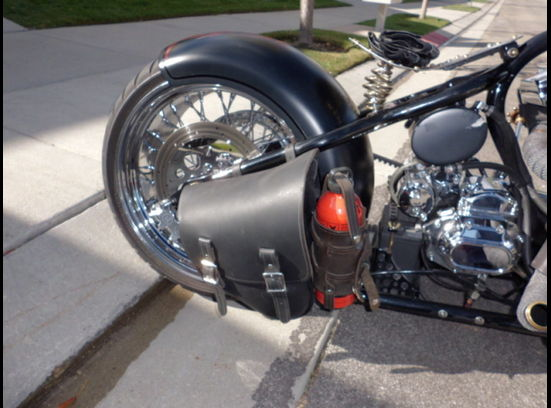 Bobber Motorcycle Right side rear tire
