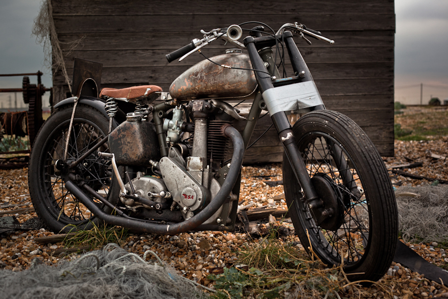 BSA 1949 B33 Bobber Motorcycle