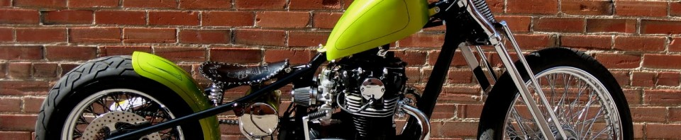Yamaha XS650 Lime Green Bobber Motorcycle