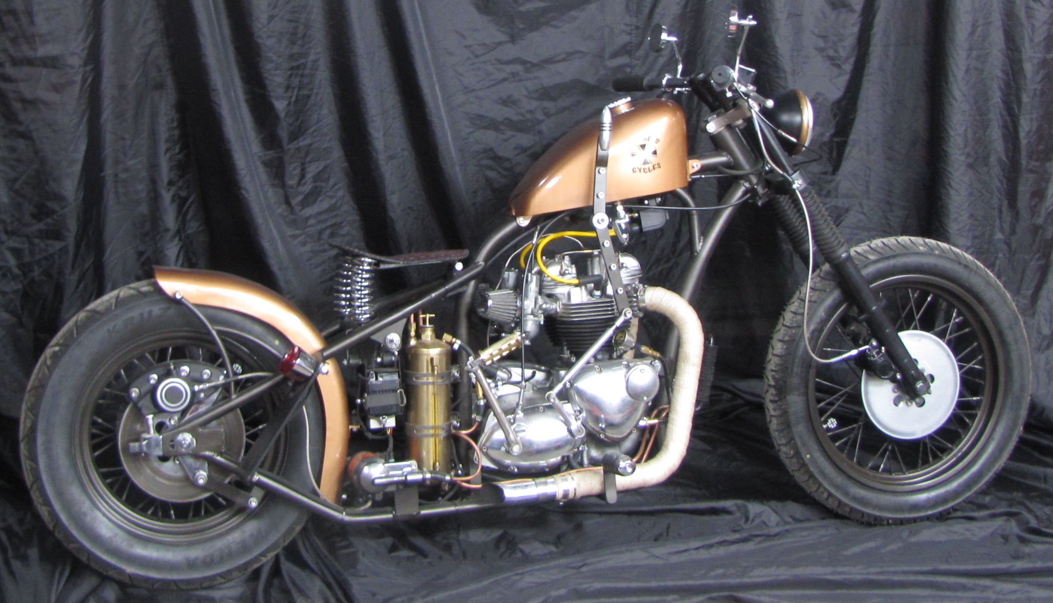1967 Triumph TR6R Trophy Bobber Motorcycle