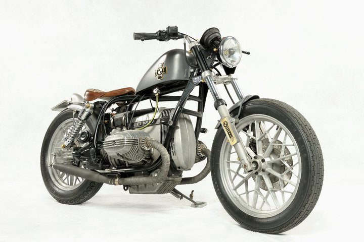 Custom Classic BMW Bobber Motorcycle in Silver