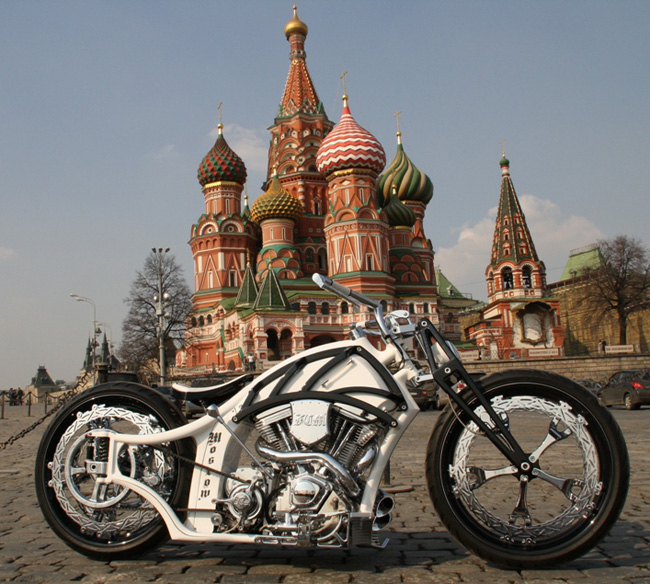 Futuristic Russian Bobber Motorcycle