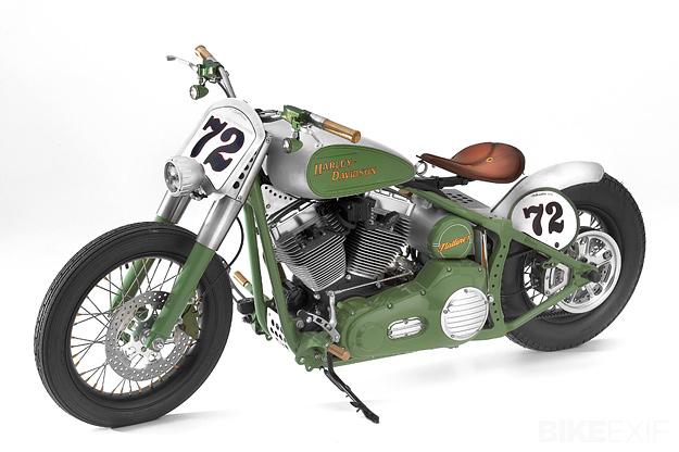 Harley Davidson FLSTC Heritage Softail Bobber Motorcycle - Left Side