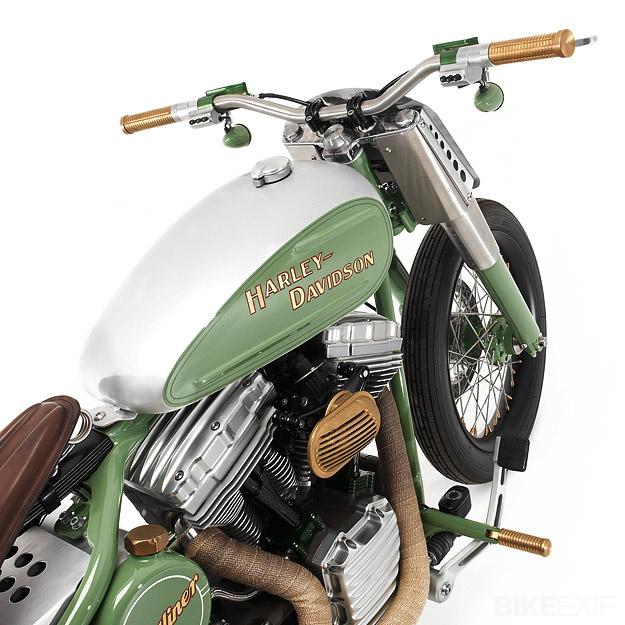 Harley Davidson FLSTC Heritage Softail Bobber Motorcycle - Tank View