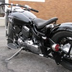 Yamaha XS650 Bobber Motorcycle in Black - Left Rear