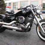 Yamaha XS650 Bobber Motorcycle in Black Right Side