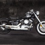 Yamaha XS650 Bobber Motorcycle in Black - Right Side