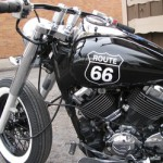 Yamaha XS650 Bobber Motorcycle in Black - Tank View