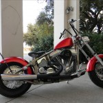 1340 cc EVO V-Twin Bobber Motorcycle Right Side View