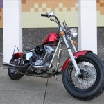 1340 cc EVO V-Twin Bobber Motorcycle - Front View