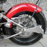 1340 cc EVO V-Twin Bobber Motorcycle - Rear Tire Left Side