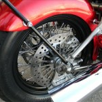 1340 cc EVO V-Twin Bobber Motorcycle - Rear Right Tire