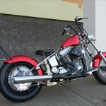 1340 cc EVO V-Twin Bobber Motorcycle Right Exhaust Side