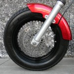1340 cc EVO V-Twin Bobber Motorcycle Left Front Tire