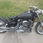 2001 Yamaha V Star XS650 Bobber Motorcycle With Black Paint Job