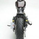 Asumati Honda VT750 ST Bobber Motorcycle Rear View