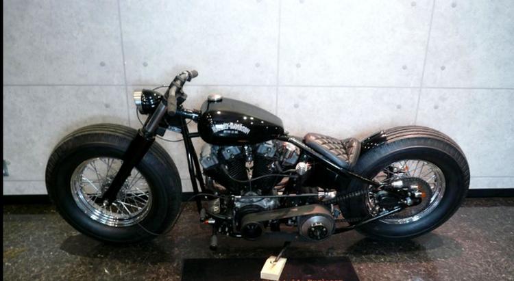 Black Harley-Davidson Bobber Motorcycle