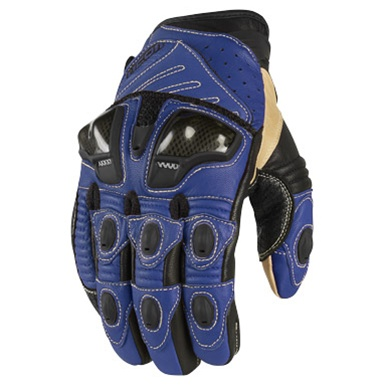 Icon Blue Motorcycle Glove