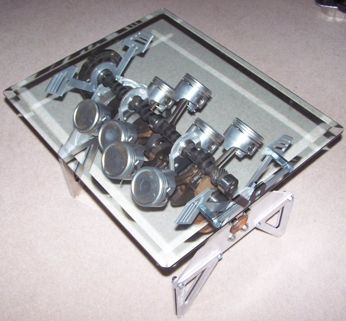 engine block coffee table. Black Bedroom Furniture Sets. Home Design Ideas