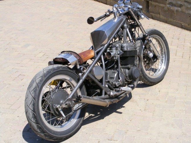 Old School Kick Start Bobber Motorcycle