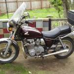 1982 Honda CB650 Bobber Motorcycle - stock