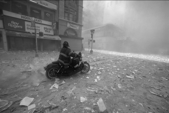 Fire Fighter On Motorcycle