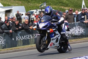 Rider in the Isle of Man TT