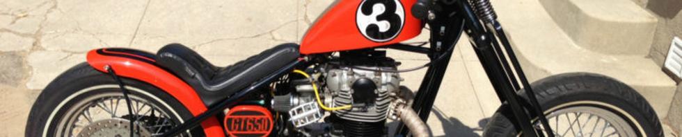 1977 Yamaha XS650 Motorcycle Hardtail Bobber