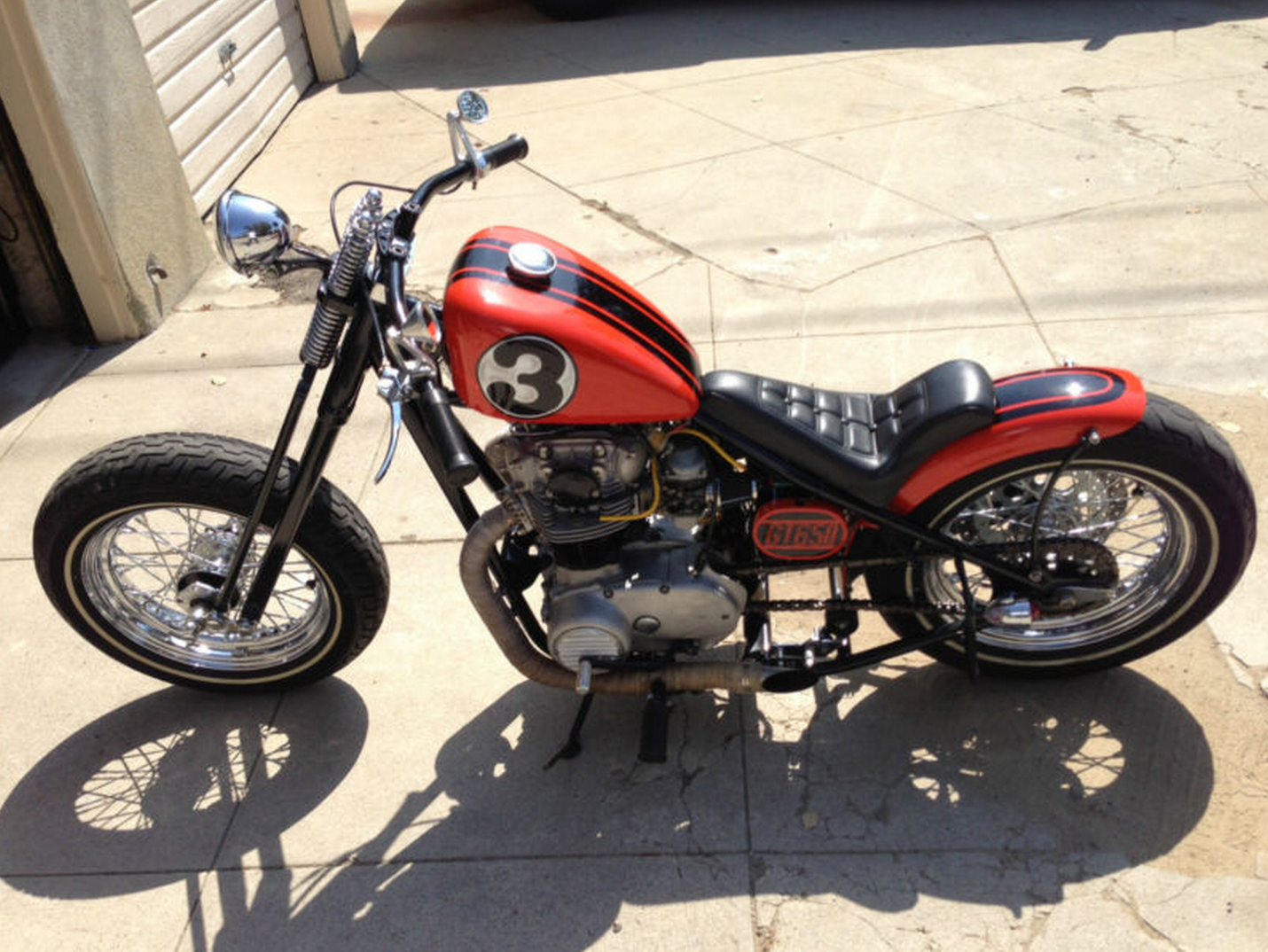 1977 Yamaha XS650 Motorcycle Hardtail Bobber | USA Bobbers on