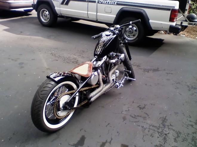 Harley-Davidson Flat Bar Bobber Motorcycle