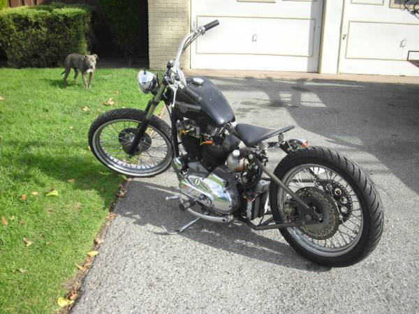 1973 sportster rigid bobber motorcycle left