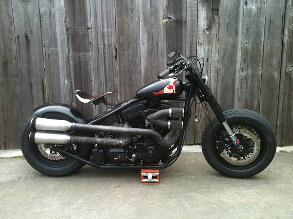 1998 EVO S&S Bobber Motorcycle Right